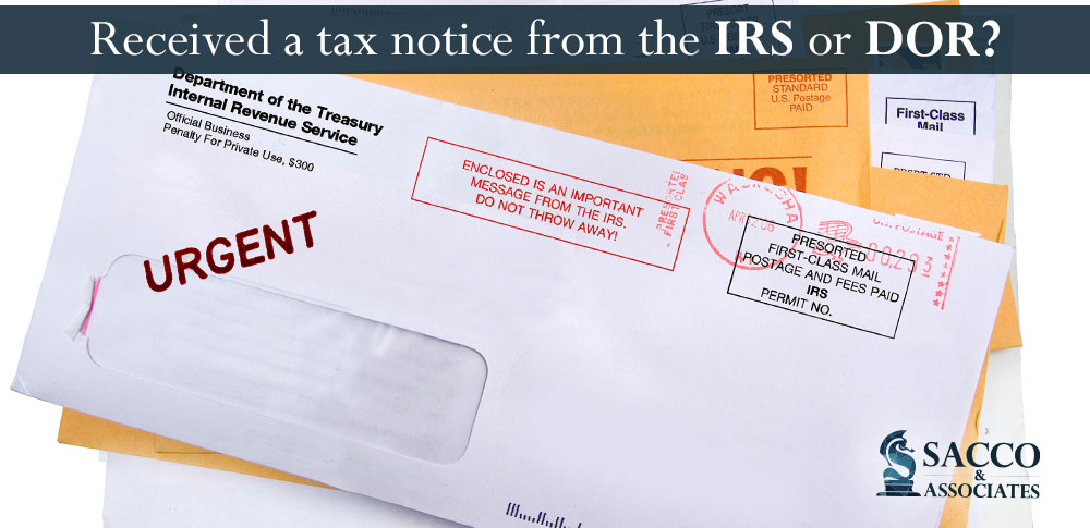 Received A Notice From The Irs Or Department Of Revenue Heres What